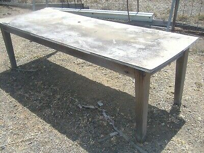 Very Old Wooden Table May Be Some Sort Of Pine Timber Large About More Than 2 Mt
