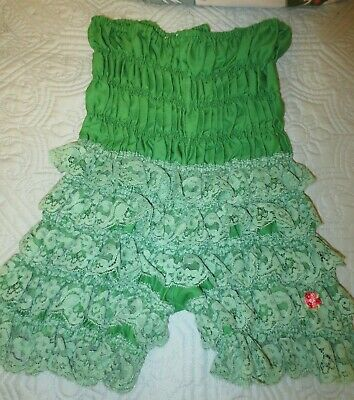vintage RUTHAD GREEN rumba bloomers pettipants sissy LACE panties size M