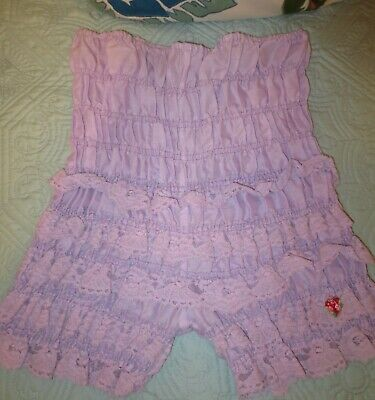 vintage RUTHAD PURPLE rumba bloomers pettipants sissy LACE panties size S/M