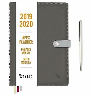 Planner 2020. Undated Weekly, Dated Monthly Calendar.