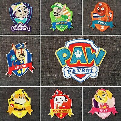 PAW PATROL High Quality 100% Embroidered TV Cartoon Puppy Dog Patch Iron-On NEW