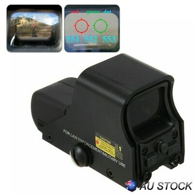 Red Green Dot Holographic Sight 551 Tactical Airsoft Scope Sight Hunting AU