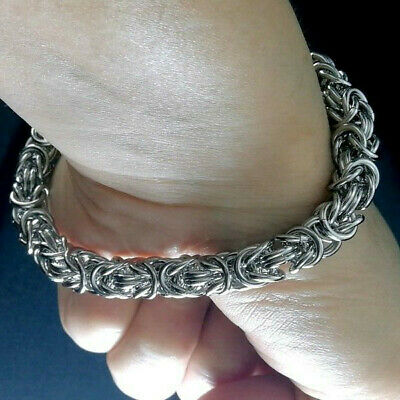 316L stainless steel Silver tone mens chain 8mm Bracelet281