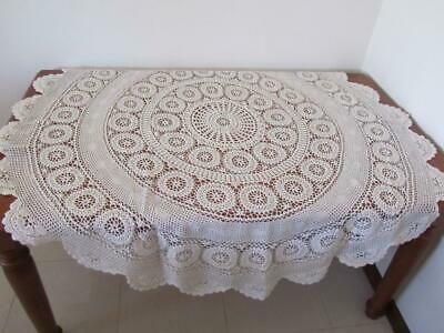 Vintage Round 180cm Lovely CROCHET TABLECLOTH