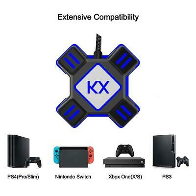 KX Gaming USB Keyboard & Mouse Converter PS3 PS4 APEX Adapter Universal