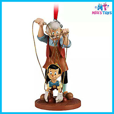 Disney Pinocchio and Geppetto 2019 Sketchbook Ornament brand new