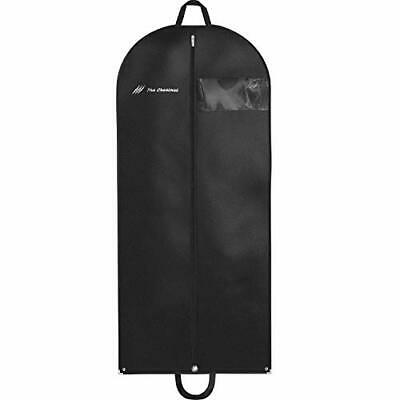 "Garment Bag for Travel and Storage 54"" x 24"" - Hanging Black Suit Dress Carry"
