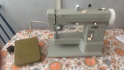 Vintage Retro 70s Pfaff 97 Sewing Machine Western Germany Collectors Good Cond