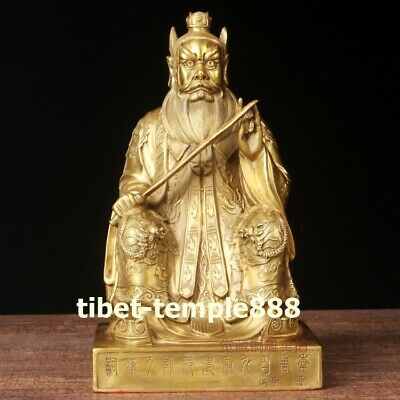 Chinese pure brass Taoism Old elder leader Zhang Taoist master buddha Sculpture