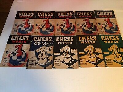 Chess World Magazine 10 Misc. Issues Vintage