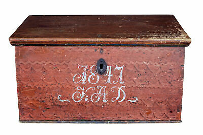 Mid 19Th Century Swedish Painted Pine Box