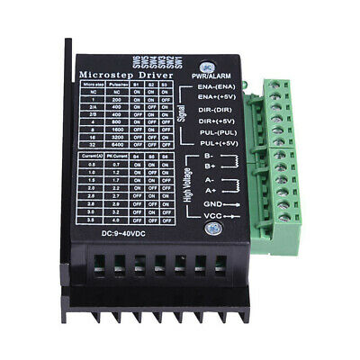 TB6600 Single Axis 4A Stepper Motor Driver Controller 9~40V Micro-Step CNC Black