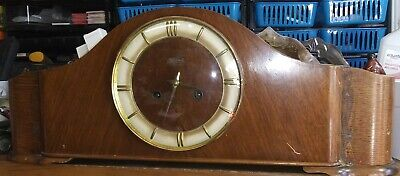 Vintage Hermle W.German Chiming Mantle Clock-no key-so untested-sound is lovely