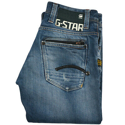 G-Star Kids Boys Slim Straight Distressed Jean Size 27/32 Blue Denim Authentic