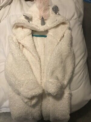 Girls Unicorn Dressing Gown From Next Size 9 To 10 Great Condition