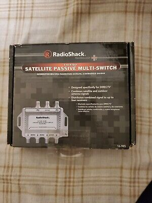 RadioShack Satellite Passive Multi-Switch 3-In/4-Out #16-985 NEW