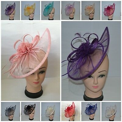 Large Headband & Clip Hat Fascinator Weddings Ladies Day Race Royal Ascot