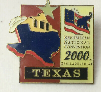 Republican National Convention 2000 Texas Lapel Pin