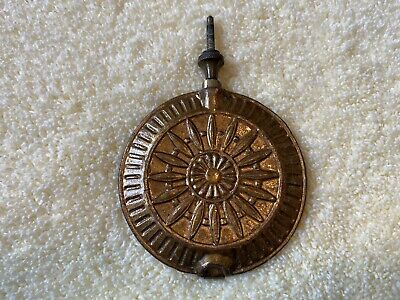 Vintage Ornate Pendulum Weight for Antique Clock