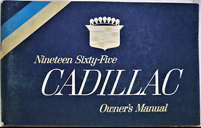 Cadillac 1965 Document  D'origine