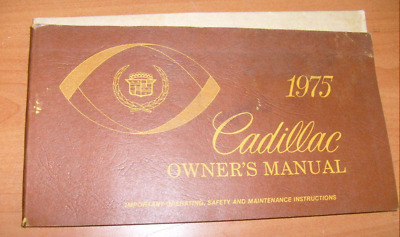 Cadillac 1975 Document  D'origine