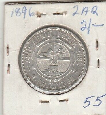 1896 South Africa     Zar  Silver    Two Shilling  Unc