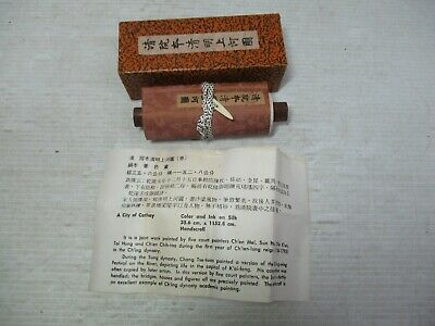 Vintage Hand Scroll - City of Cathay Reproduction in Original Box  124 x 4""