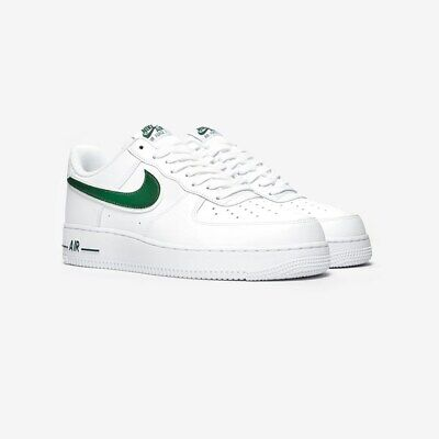 NIKE AIR FORCE 1 07 Bas Baskets Blanc Vert AO2423 104 UK 12