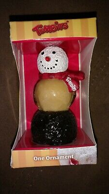 TIM HORTONS TIMBITS COLLECTIBLES Snowman Christmas Tree Ornament 2011 Decoration