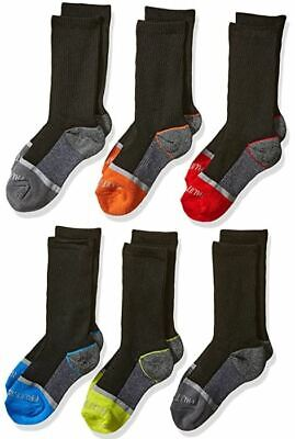 Fruit of the Loom Boys' 6-Pair Half Cushion Crew Socks Comes With Multi Colors