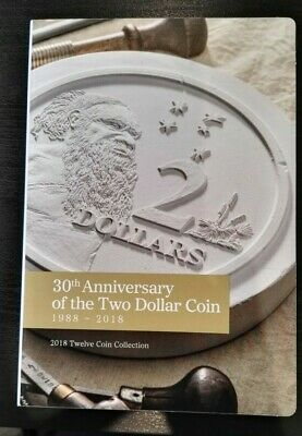 2018 30th Anniversary of 2 Dollar Coin Collection - Empty Folder -