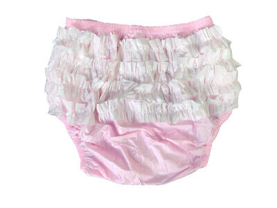 New Soft Adult Baby PVC frilly pull-on Plastic Pants #P003-6