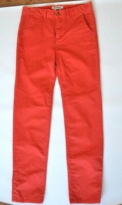 New Quiksilver Boys Chinos Red Size 16 Years Straight Tapered