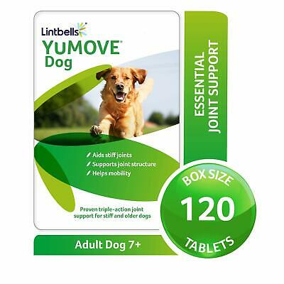 LINTBELLS YuMOVE Senior / Older Dog Joint Supplement for Stiff Joints (120 Pack)