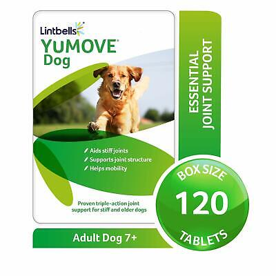 LINTBELLS YuMOVE for Adult Dogs (7+) Joint Supplement / Stiff Joints (120 Pack)