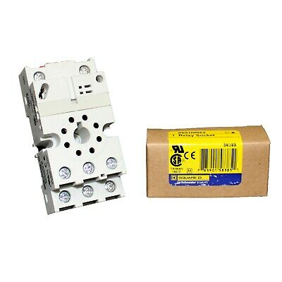 Square D By Schneider Electric 8501NR52 Relay Socket,Standard,Octal,8 Pin,16A