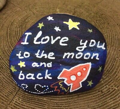 hand painted rock Valentines Day Gift Personalised Love You Anniversary Pebble