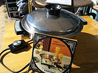 Vintage Townecraft Stainless Steel Skillet Miss Electra Table Chef 17450 EUC