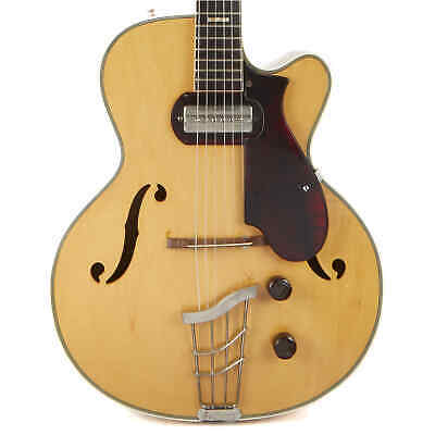 Vintage Harmony H-65 Electric Archtop Natural 1963