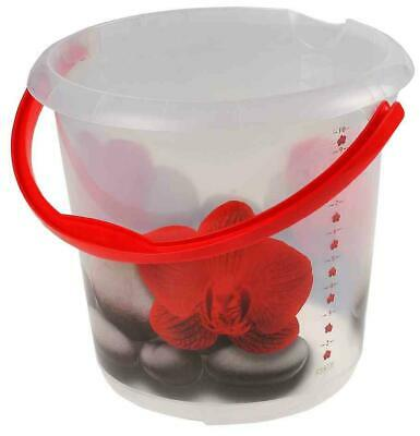 """[Ref:1260000104200] KEEEPER seau deco ilvie """"red lotus"""", rond, 10 litres"""