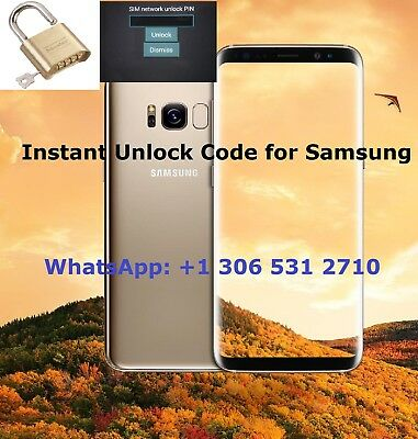 Remote Samsung Network Unlock Code S8 S8+ S9 S9+ Note 8/9 - Most New Models