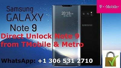 Unlock Note 9 Tmobile & Metro Pcs T-Mobile Samsung Galaxy Note 9  - N960U,N960U1