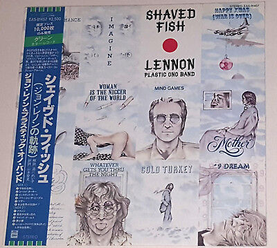 John Lennon Shaved Fish Green Vinyl LP Record Album Japan Issue EAS-81457 w/ Obi