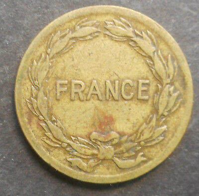 France 1944 Allied Occupation   2  Franc coin Nice