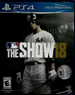 MLB: The Show 18 (Sony PlayStation 4, 2018) Brand New Sealed