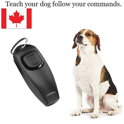 Pet Dog Click Clicker Training Obedience Agility Training Whistle 2 in 1 for dog