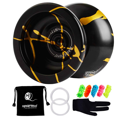 Magic YoYo N11 Aluminum Alloy Ball Professional Yo-Yo + 5xStrings + Glove