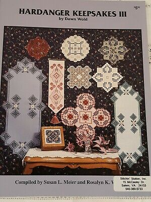 Hardanger Keepsakes III by  Dawn Wold Embroidery Pattern Booklet (11 Projects)