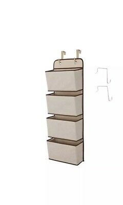 Hanging Closet Organizer, 4-Pockets Wall Mount/Over Door Storage for Toys New