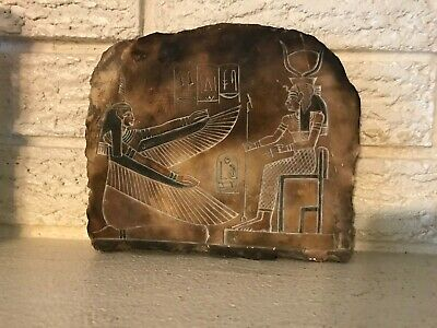 Beautiful Egyptian Antiquity Wall Carving Hieroglyphic Plaque Copy